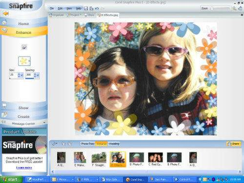 Capture d'écran Corel Snapfire Plus