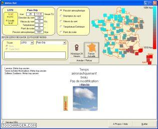 Capture d'écran MeteoNet