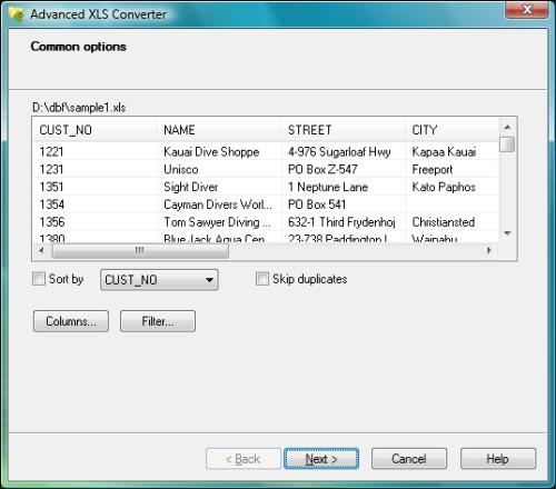Capture d'écran Advanced XLS Converter
