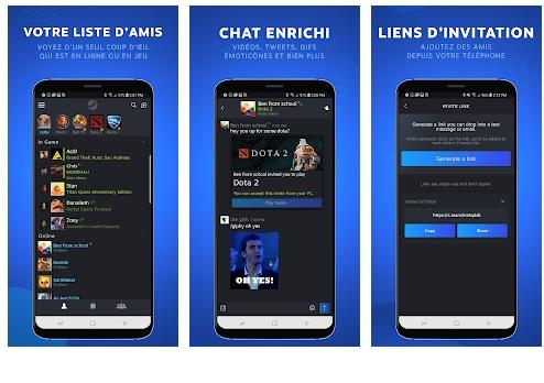 Capture d'écran Steam Chat Android