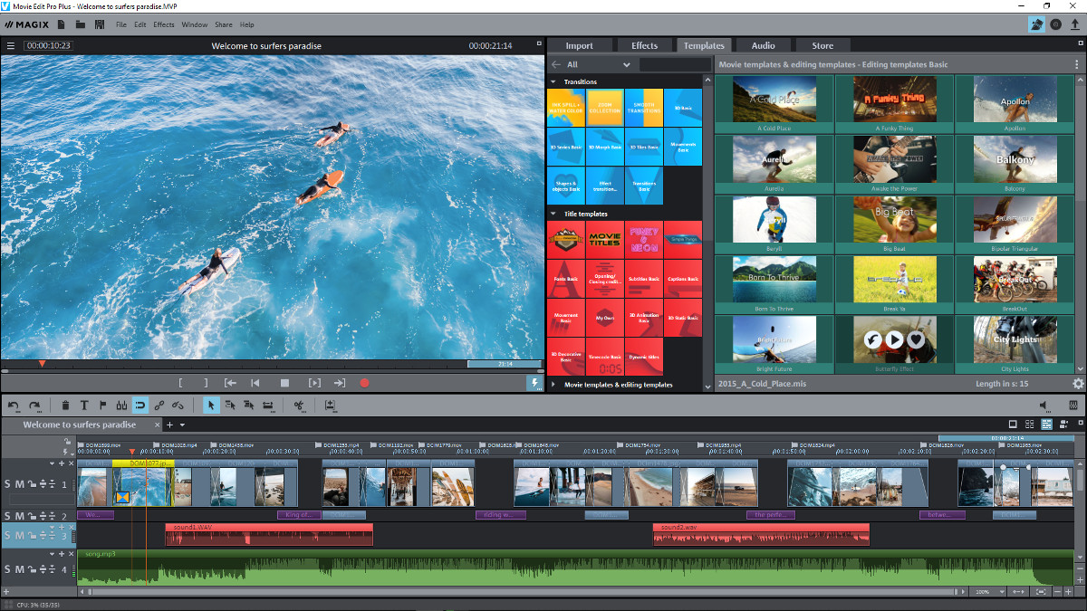 Capture d'écran MAGIX Video Deluxe Plus 2020