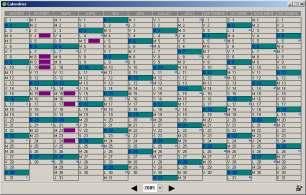 Capture d'écran Calendrier