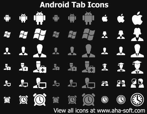 Capture d'écran Android Tab Icons