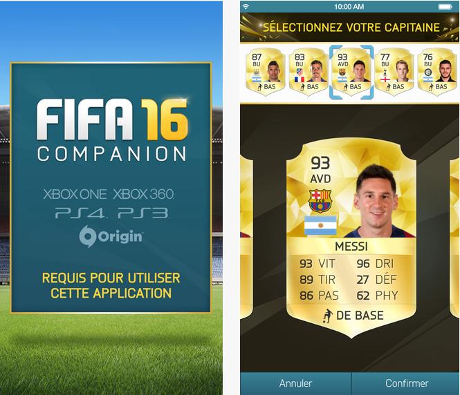 Capture d'écran FIFA companion 2016 Android