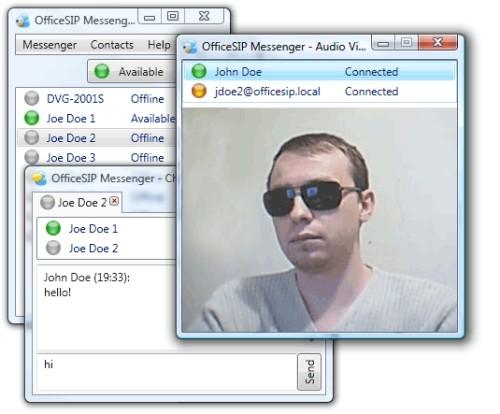 Capture d'écran OfficeSIP Messenger