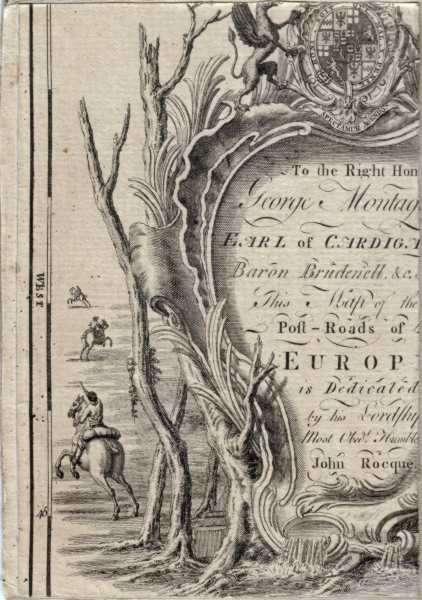Capture d'écran Carte générale des Postes de l'Europe 1781