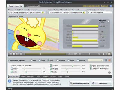 Capture d'écran Eltima Flash Optimizer
