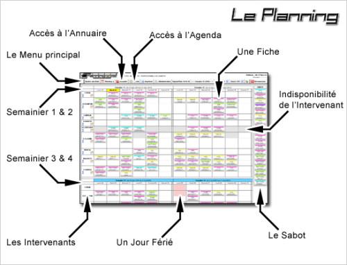 Capture d'écran PlanningDePose