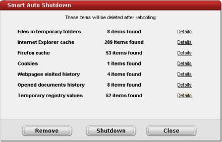 Capture d'écran Smart Auto Shutdown