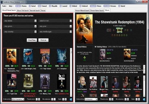 Capture d'écran Coollector Movie Database Mac