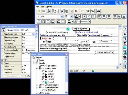Capture d'écran Reportizer