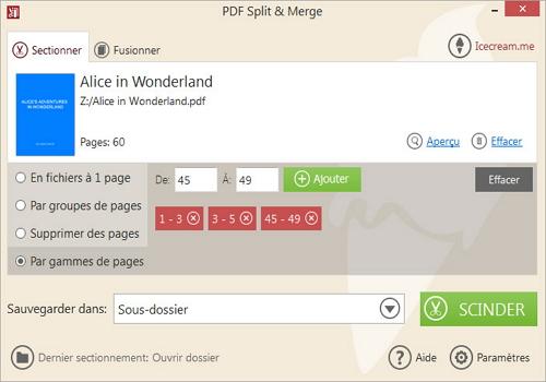 Capture d'écran Icecream PDF Split & Merge 3.41