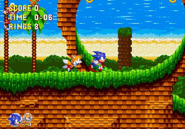 Capture d'écran Sonic Triple Trouble 16-bit
