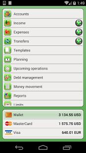 Capture d'écran Finance PM – Mon Budget