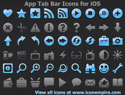 Capture d'écran App Tab Bar Icons for iOS
