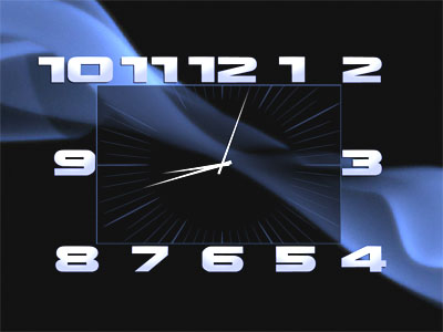 Capture d'écran Box Clock Screensaver
