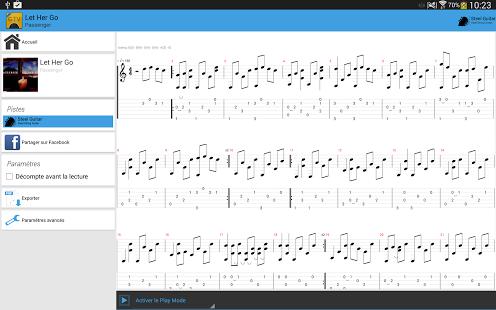 Capture d'écran Guitar Tab Viewer