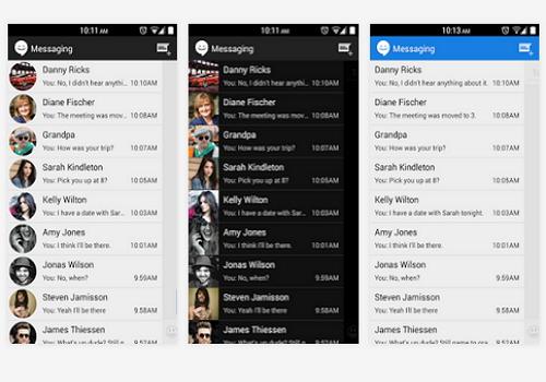 Capture d'écran Sliding SMS Android