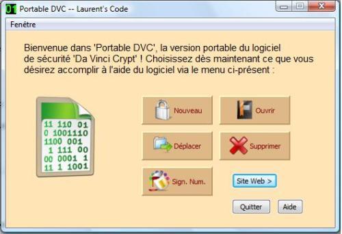 Capture d'écran Portable DVC