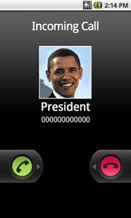 Capture d'écran Fake Call