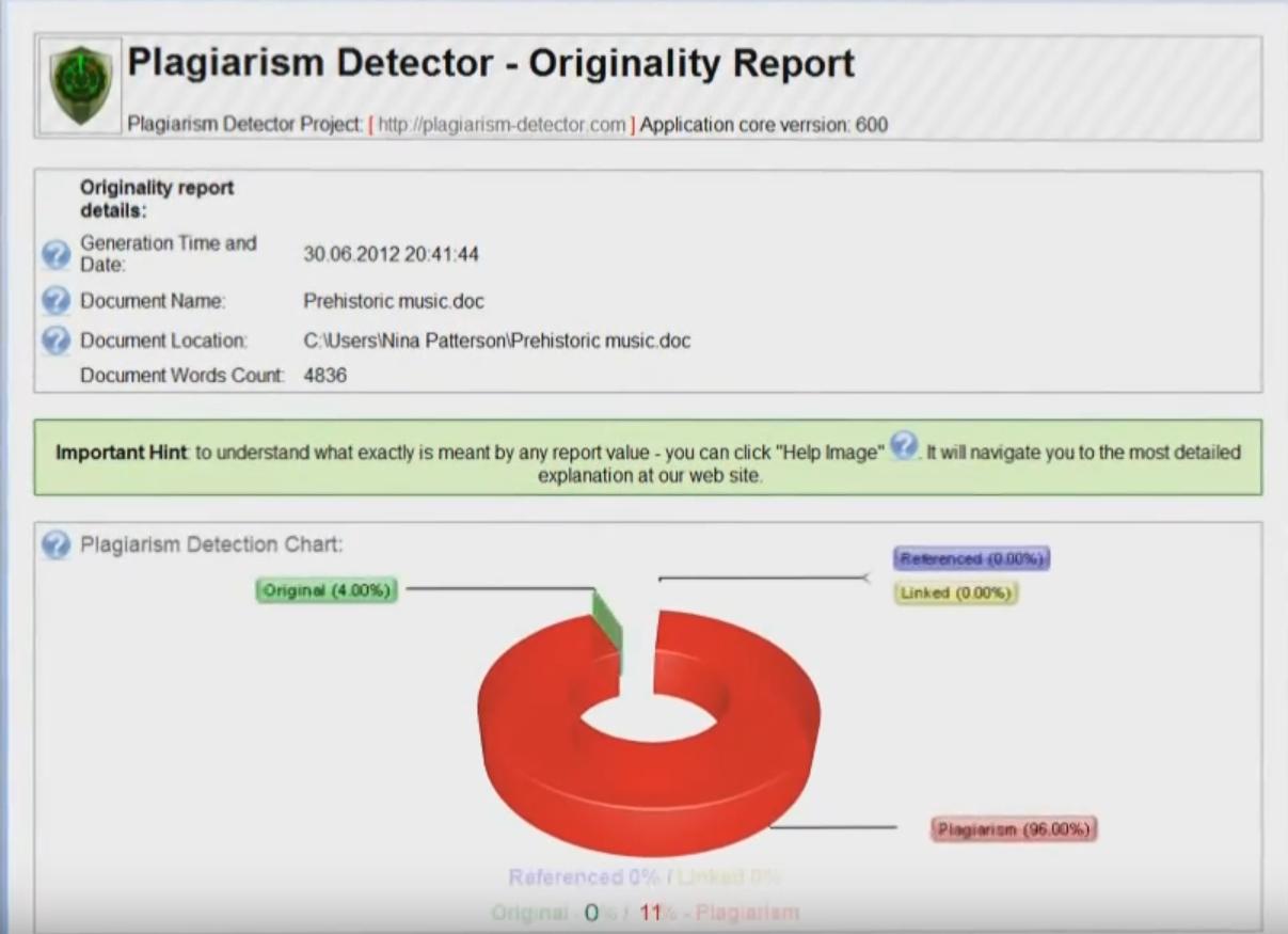 Capture d'écran Plagiarism Detector