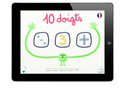 Capture d'écran 10 doigts pour 10 chiffres