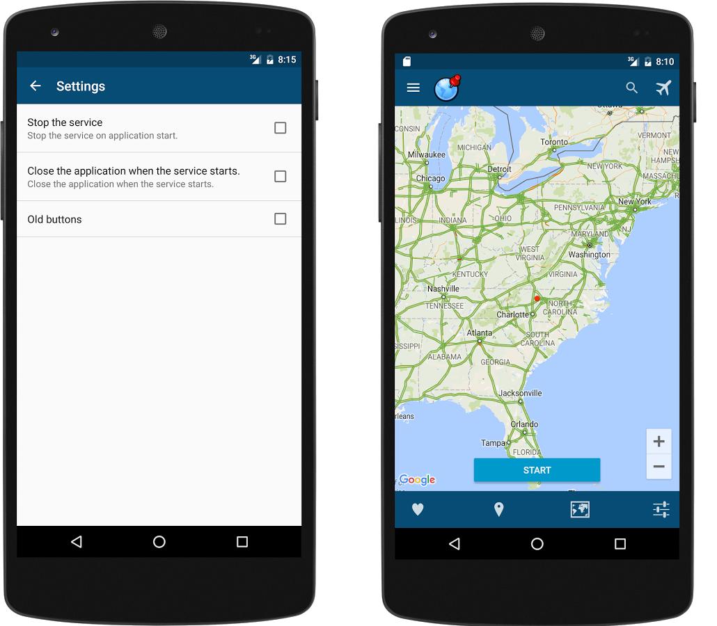 Capture d'écran Emplacement Faux (Fake GPS) Android
