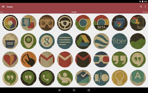 Capture d'écran Vintage – Icon Pack