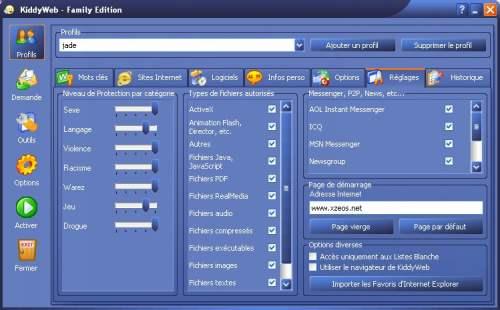 Capture d'écran KiddyWeb Free Edition
