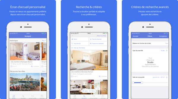 Capture d'écran Nestpick iOS