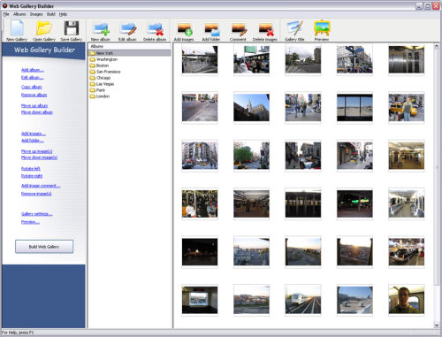 Capture d'écran Web Gallery Builder
