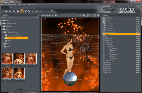 Capture d'écran DAZ Studio Win32