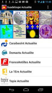 Capture d'écran Guadeloupe Actualités