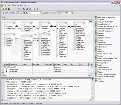 Capture d'écran Active Query Builder Free Edition