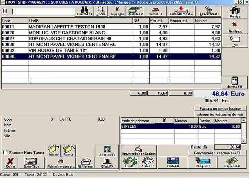 Capture d'écran FrontShop