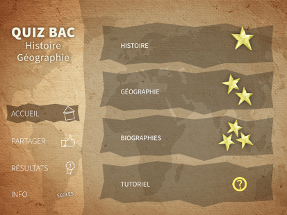 Capture d'écran BAC histoire-Géo quiz 2015