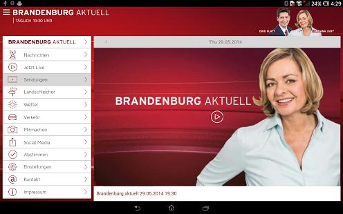 Capture d'écran Brandenburg aktuell