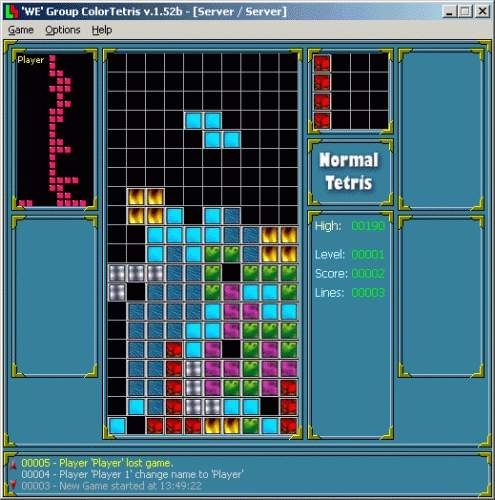 Capture d'écran ColorTetris