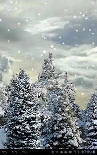 Capture d'écran Snowfall Live Wallpaper