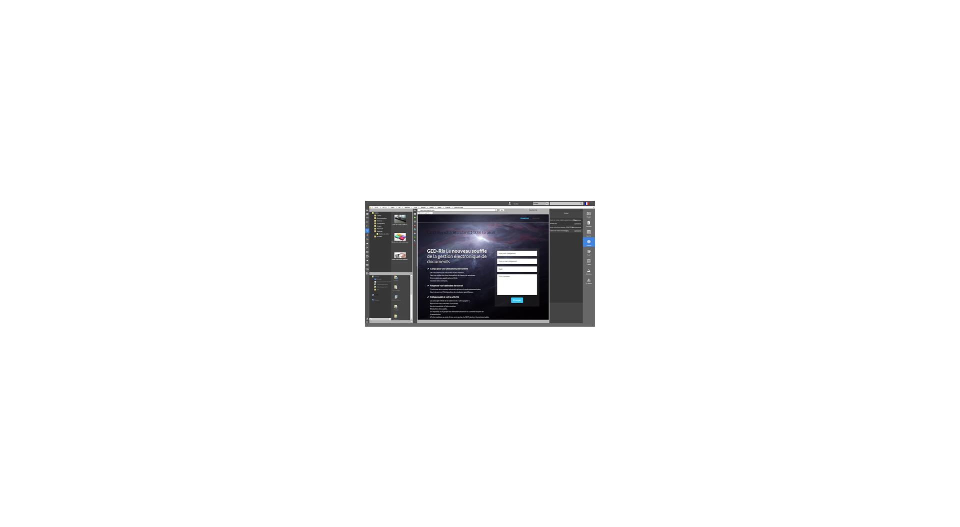 Capture d'écran GEDRis 3.0 Standard