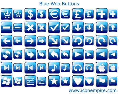 Capture d'écran Blue Web Buttons