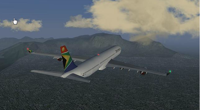 Capture d'écran FlightGear Mac