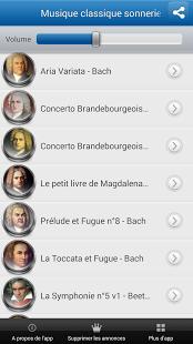 Capture d'écran Musique classique sonneries