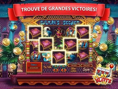 Capture d'écran PlaySlots – machine a sous 777