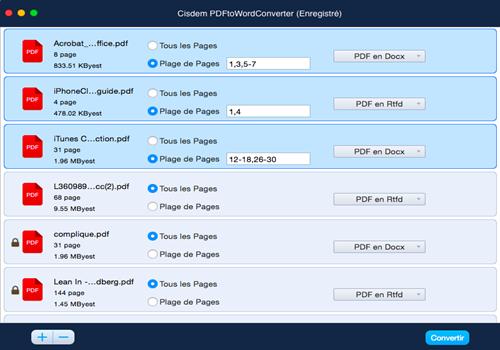 Capture d'écran Cisdem PDFtoWordConverter pour Mac