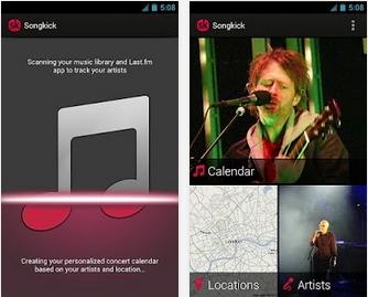 Capture d'écran SongKick Concerts Android