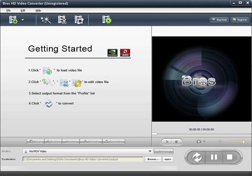 Capture d'écran Bros HD Video Converter