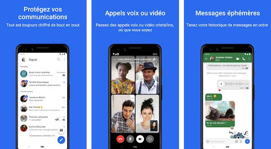 Capture d'écran Signal Private Messenger Android