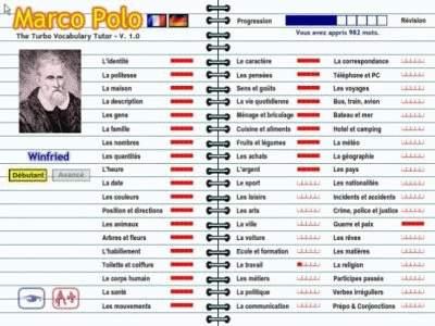 Capture d'écran Marco Polo Français-Allemand