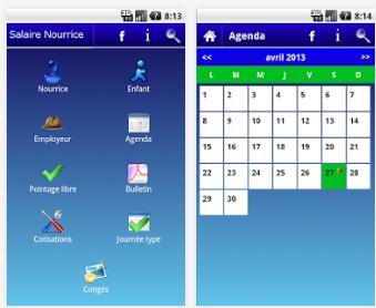 Capture d'écran Salaire nourrice Android